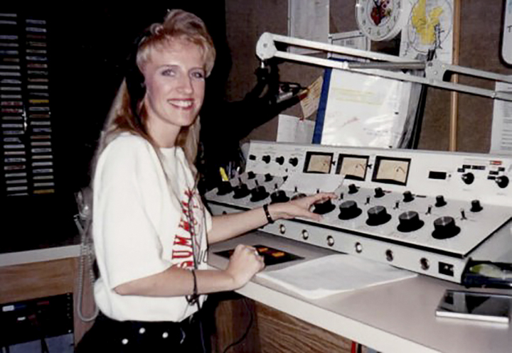 Debbie Bridgeman, then known as Debbie Wylde, above, was responsible for manually changing tracks when she worked at WDDJ 97 FM in Kentucky during the 1990s.