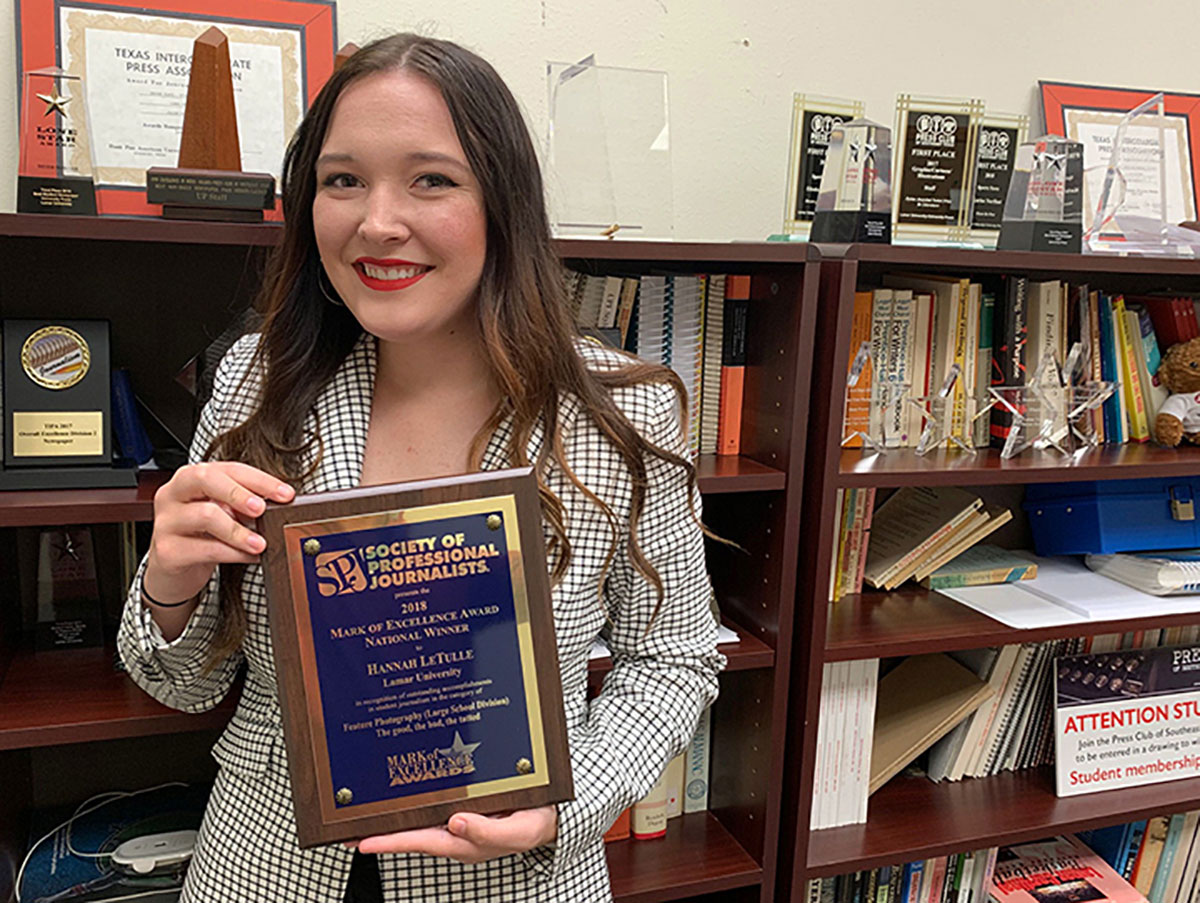 Former UP staffer Hannah LeTulle earned first place nationally in Society of Professional Journalists contest.
