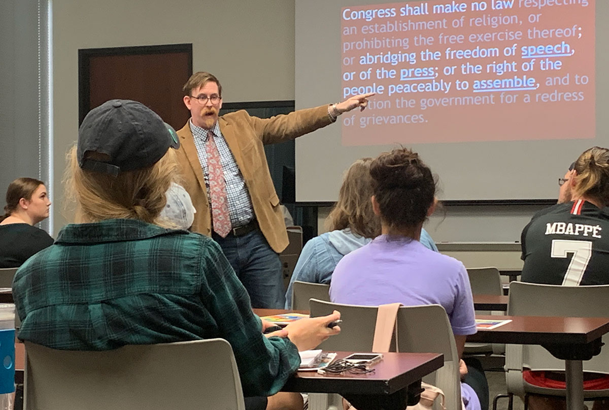 Comm, SPJ co-hosts First Amendment boot camp
