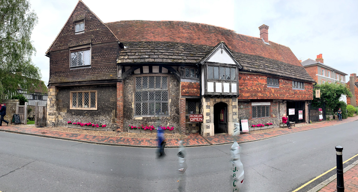 Exterior of Anne of Cleaves' house in Lewes, England.