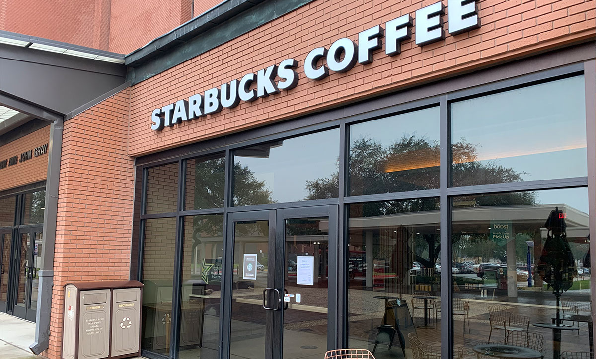 Gray Library Starbucks closed for COVID cleaning